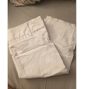 White business capri pants